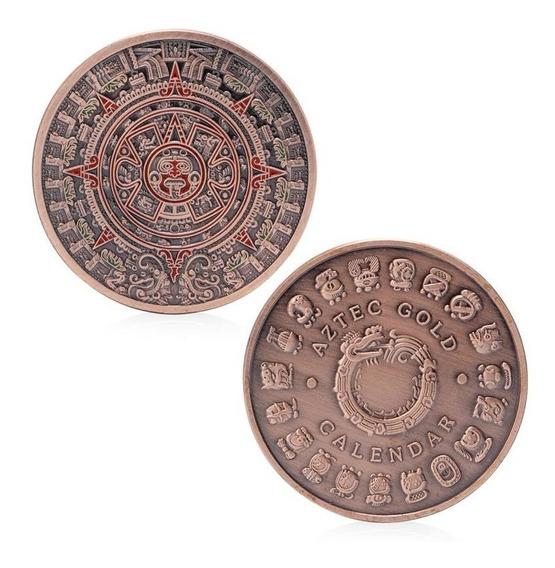 Moeda Comemorativa Civilização Antiga Asteca Pronta Entrega