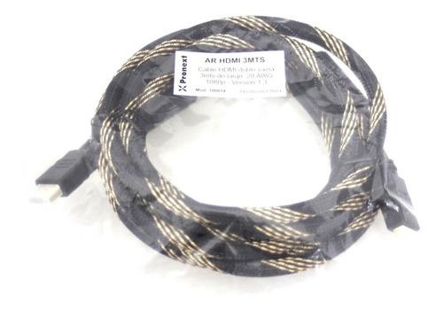 Cable Armado Hdmi-hdmi 3 Mtrs V1.4 Pronext Fullhd 3d 4k
