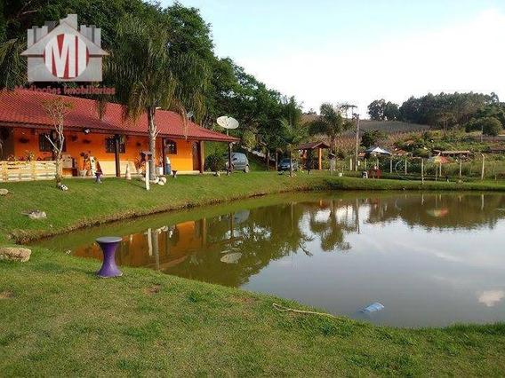 Chácara Rica Em Água Com 02 Lagos, Pomar, Casa Ampla Com 04 Dormitórios À Venda, 5810 M² Por R$ 520.000 - Pedra Bela/sp - Ch0488