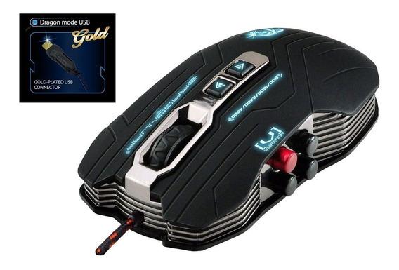 Mouse Gamer Pro 4000 Dpi Com Vibração + Mouse Pad Grátis