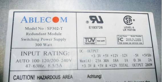 Fonte Ablecom Mod. Sp302--t 300 Watt 8.5/5a