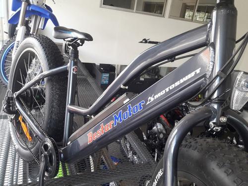 Bicicleta Electrica Para Montaña O Arena Con Ruedas Anchas