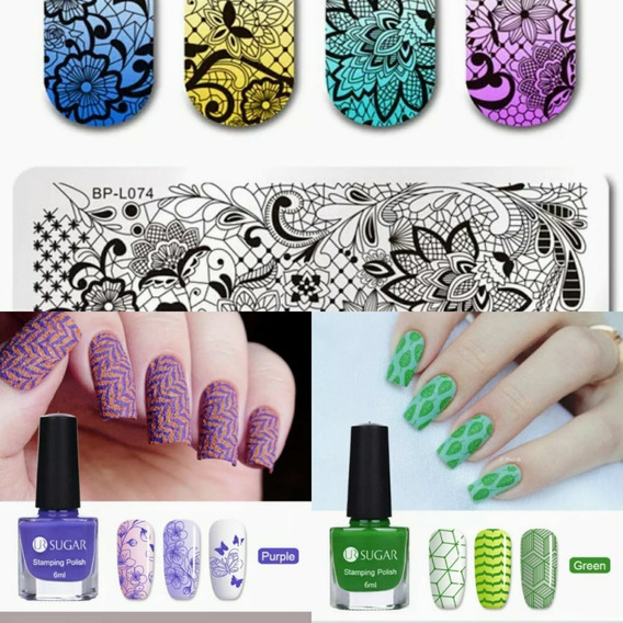 Esmalte Gel Uv P/ Estampagem Art Design Sugar+placa B Pretty