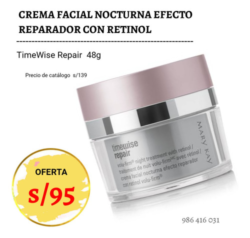 Crema Nocturna Timewise Repair 48g Mary Kay