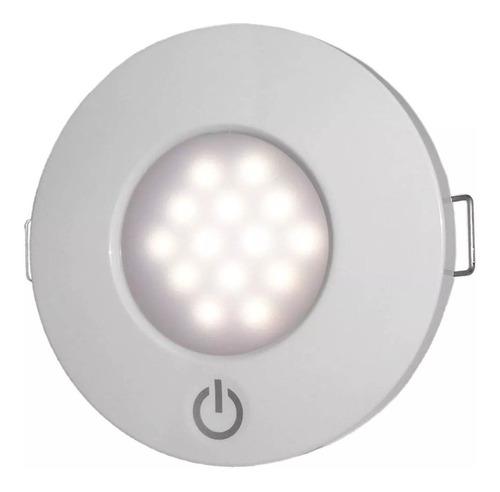 Luminária Touch De Cabine 14 Leds Branco De Embutir