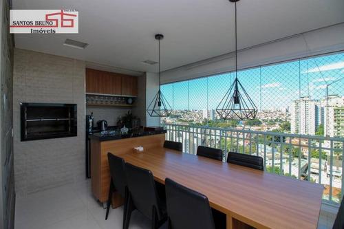 Apartamento Com 3 Dormitórios À Venda, 153 M² Por R$ 1.595.000,00 - Freguesia Do Ó - São Paulo/sp - Ap0581