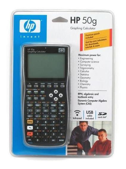 Calculadora Gráfica Hp 50g+ Capa Original, 1 Ano De Garantia