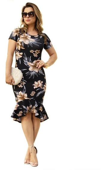 Vestido Feminino Midi Sino Moda Evangélica