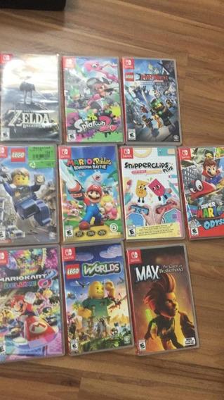 Lote 10 Jogos Nintendo Switch + Pokeball Plus
