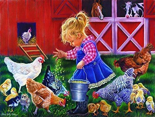 Little Farm Girl 500 Piece Jigsaw Puzzle Por Sunsout