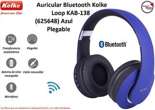 Auricular Bluetooth Kolke Loop Kab-138 (625648) Azul