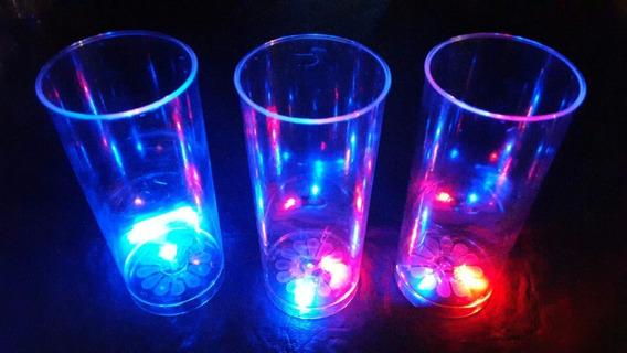 20 Vasos Luminosos Led , Cotillon Luminoso Led , Fluor !!!