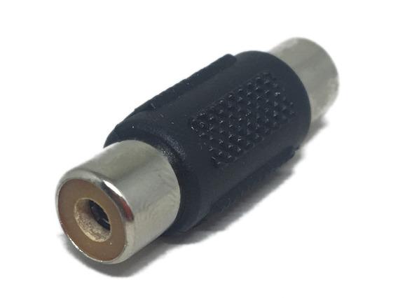 Conector Emenda Rca Fêmea X Fêmea Plástico 20 Unidades