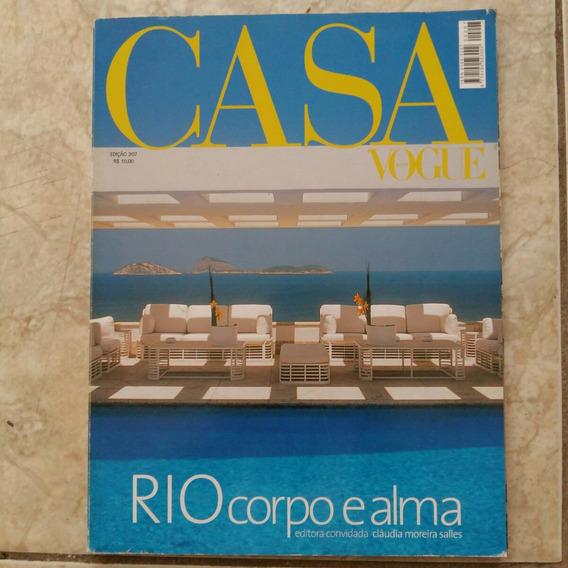 Revista Casa Vogue 207 Rio Corpo E Alma Design Decoração