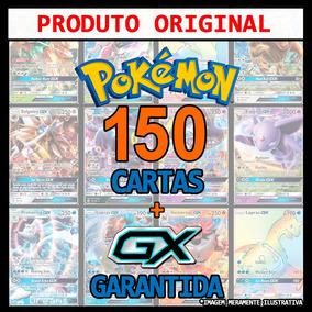 Kit Lote Pokémon 150 Cartas + Gx + Lendário + Brinde