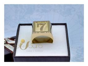 Anel De Letra Masculino 10gr Ouro 18k Número Ou Símbolo