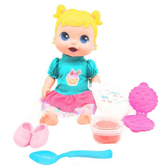 Boneca Babys Collection Comidinha - Super Toys