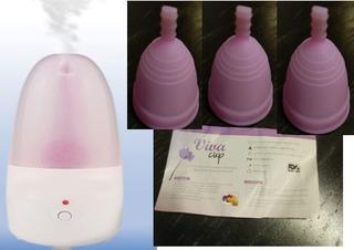 Esterilizador Elèctrico Màs 3 Copas Menstruales Talla G Paq