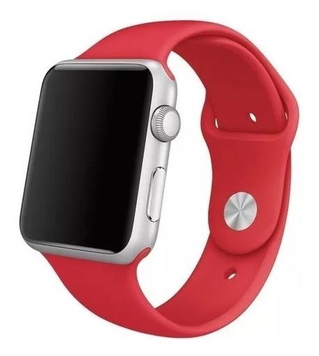 Pulseira Para Apple Watch 1 2 3 - 42 Mm M/l Sport Vermelha
