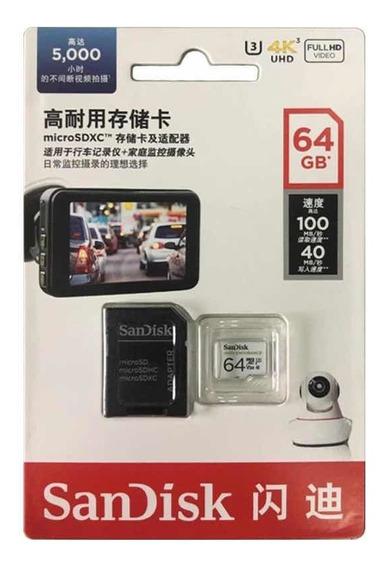 Cartão De Memória Micro Sd 64gb 4k Fullhd