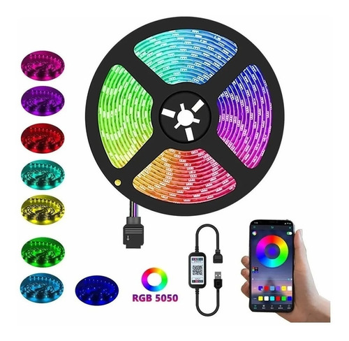 Tiktok: Cinta Luces Led Colores + Bluetooth 7014