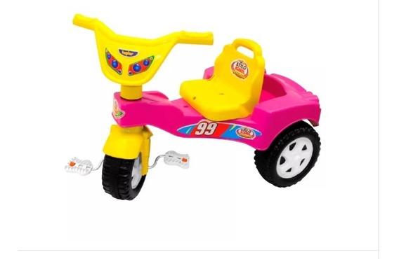 Velocípede Infantil Triciclo Velotrol Stilo Azul Até 6
