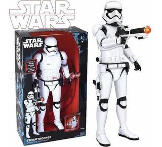Star Wars Figura Stormtrooper Interactiva Luces 40 Cms