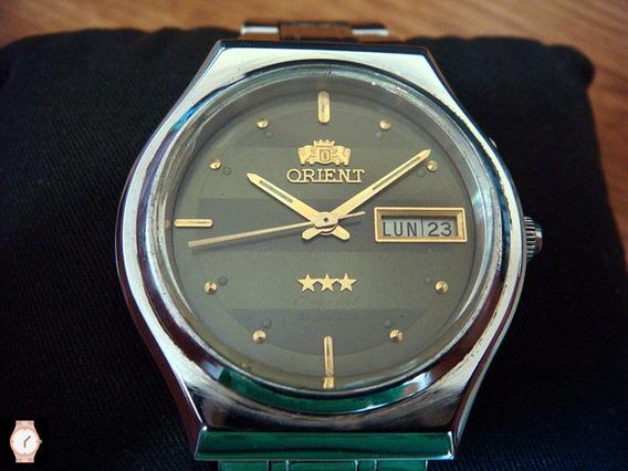 Impecable Reloj Orient Automatic Vintage Dial Verde Oliva