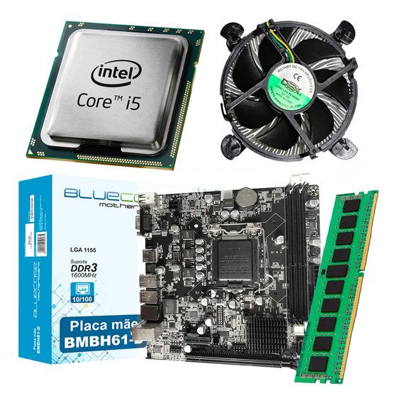 Kit Intel Processador Core I5 2400 + Placa Mãe H61 + 8gb Ram