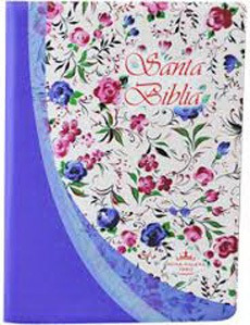 Biblia Mediana Índice Color Violeta Flores Reina Valera 1960