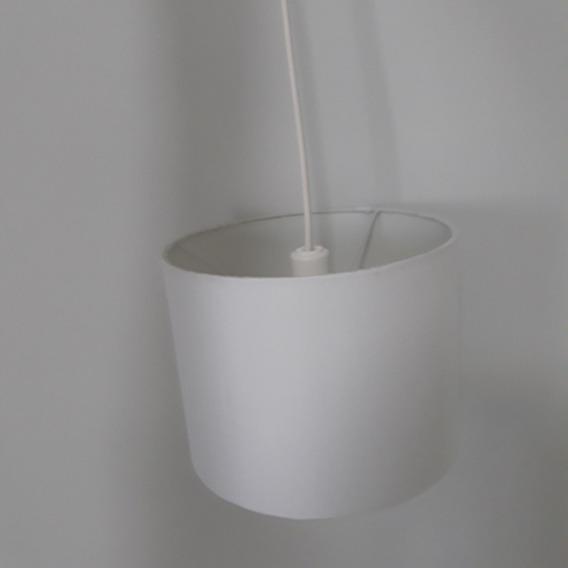 Luminária Pendente Cúpula Branca Para E27