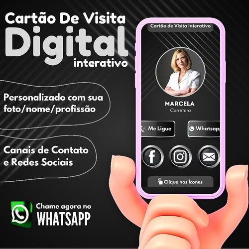Imagem 1 de 4 de Cartão De Visita Digital Interativo Entrega Em Menos De 24h