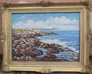Hermosa Pintura Al Óleo Por El Afamado Pintor Eduardo Ramos