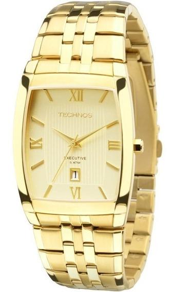 Relógio Masculino Technos Quadrado Executive 1n12mp/4x