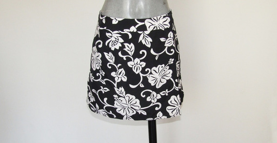 Minifalda Corte Pareo Doble Vista Talla Mediana