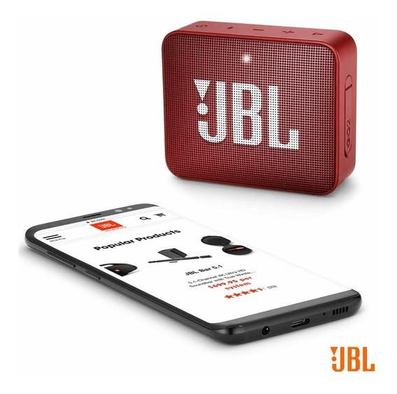 Caixa De Som Bluetooth Jbl Go 2 Vermelha - Original