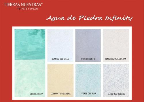 Imagen 1 de 10 de Revestimiento Para Piscina Agua De Piedra Infinity Kit 5 Mt2