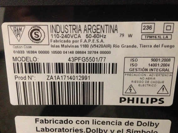 Placa Tcom Led Philips 43pfg5501/77
