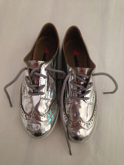 Sapato Prateado Molekinha Fashion Tam 31 Pouco Usado R$64,98