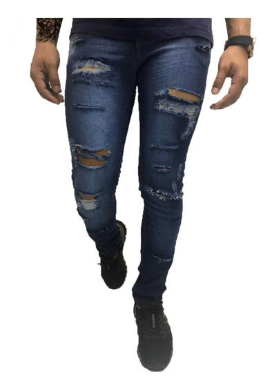 Calça Masculina Rasgada Jeans Premium Destroyed Customizada