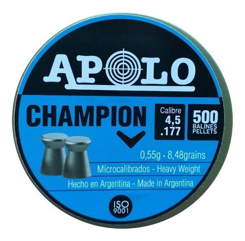 Balines Apolo Champion 4.5 Mm X 500 Unidades Dogohunter