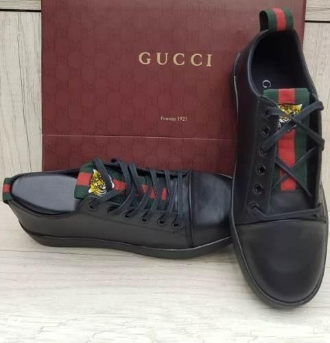 Tenis Gucci Preto Masculino Couro Envio 24h Promoção Barato