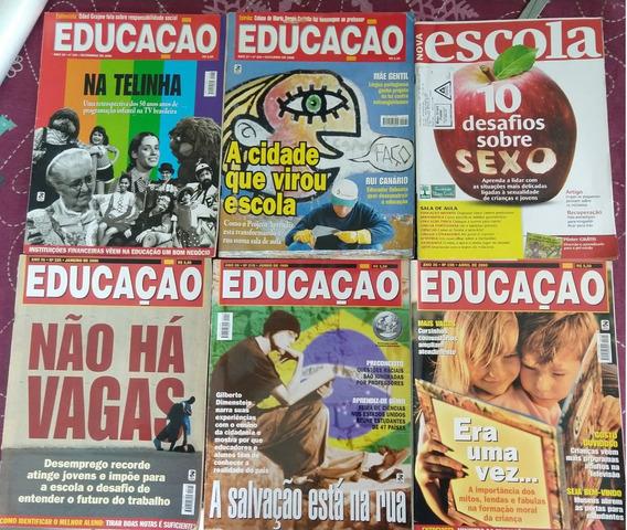 Lote Revistas - Educação/nova Escola/tv Escola - 8 Edições