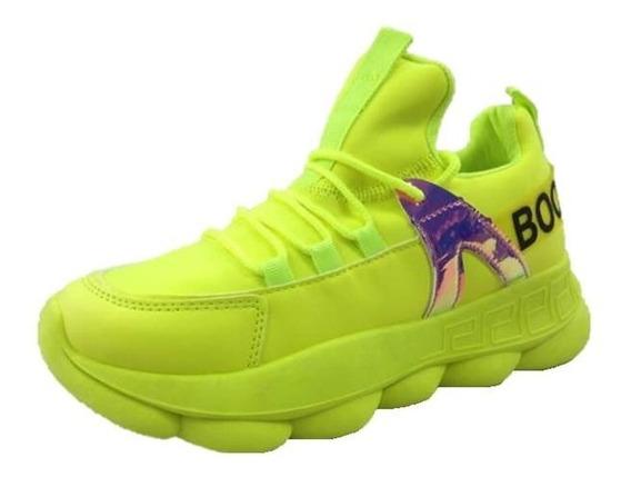 Zapatos Deportivos Boom Para Dama Verde