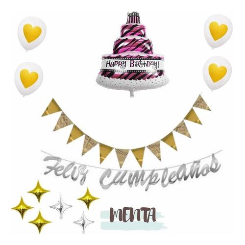 Kit Decoración Celebración De Cumpleaños Mujer Animal Print