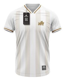 Camisa Real Madrid Passeio Rinno Force Vintage Retrô Bordado