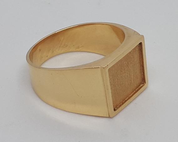 Anel Masculino Ouro 18k - Forrado - 10,5 Gramas - Aro 28