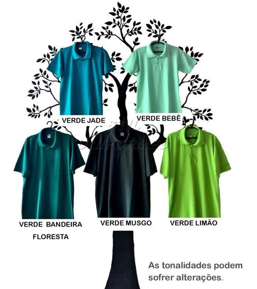 Camisa Polo ( Malha Piquet ) Lisa Básica. Camiseta Unissex