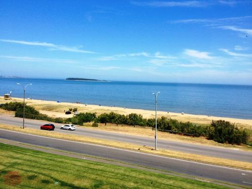 Alquiler Primera Linea En Playa Mansa , Pent-house - Ref: 10827