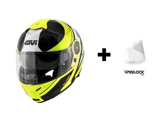 Capacete Givi X21 Globe Fluo/preto + Pinlock 12x S/ Juros
